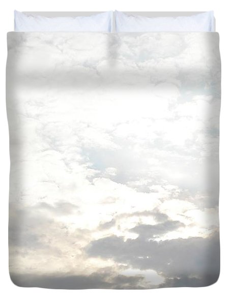 Bright Clouds Duvet Cover