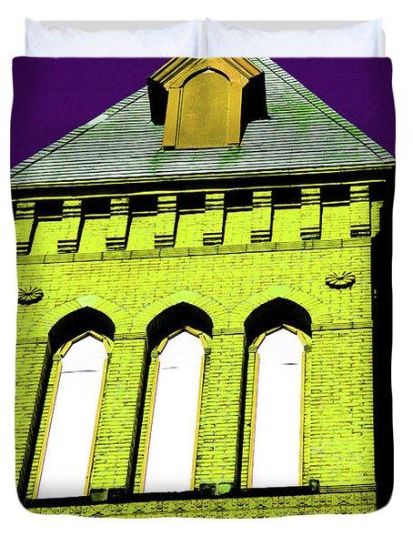Bright Cross Tower Duvet Cover by Karol Livote
