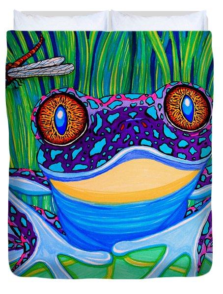 Bright Eyed Frog Duvet Cover