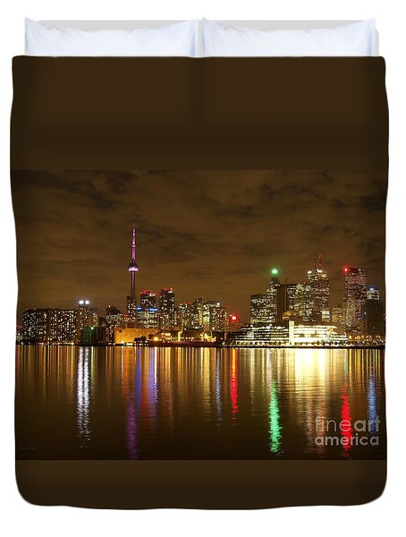 Bright Lights Big City Duvet Cover by Lingfai Leung