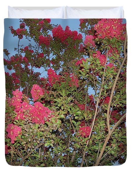 Bright Pink Floral Tree Duvet Cover