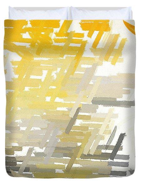 Bright Slashes Duvet Cover
