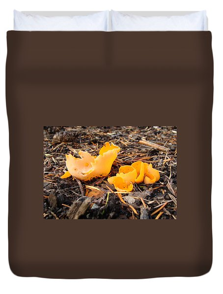 Duvet Cover featuring the photograph Brilliance In Orange by Cheryl Hoyle