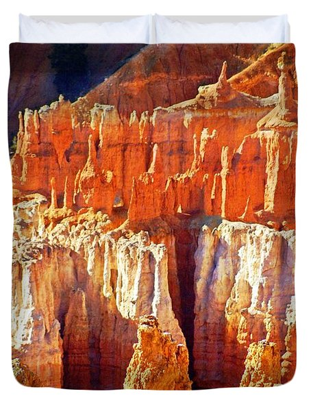 Duvet Cover featuring the photograph Brilliant Bryce by Marty Koch