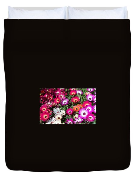 Duvet Cover featuring the photograph Brilliant Flowers by Chalet Roome-Rigdon
