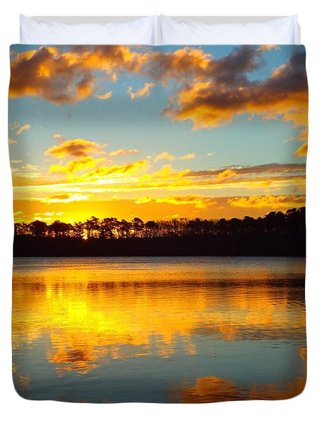 Duvet Cover featuring the photograph Brilliant Sunrise by Dianne Cowen