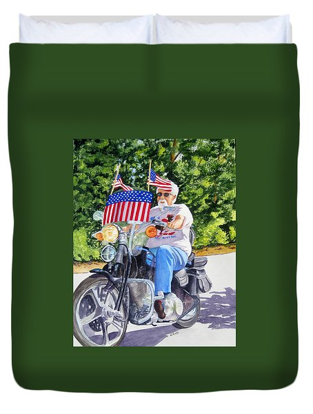 Bring On The Parade Duvet Cover by Julia Rietz