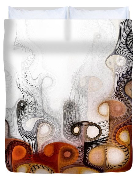 Duvet Cover featuring the digital art Bringers Of Prophecy by NirvanaBlues