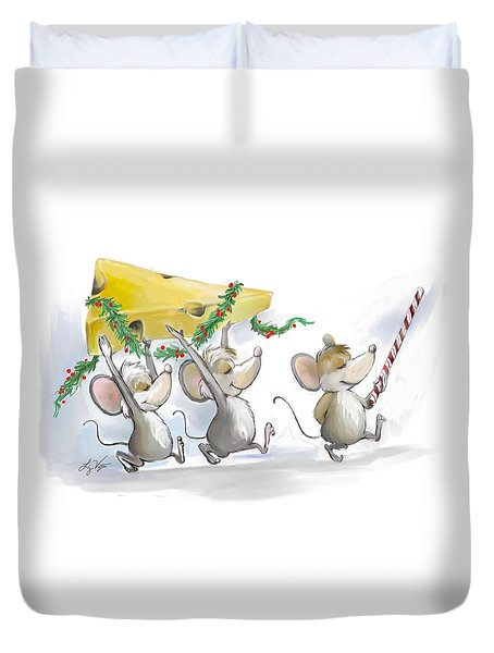 Bringing In The Christmas Cheese Duvet Cover