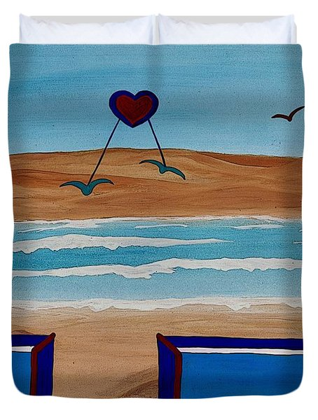 Bringing The Heart Home Duvet Cover by Barbara St Jean
