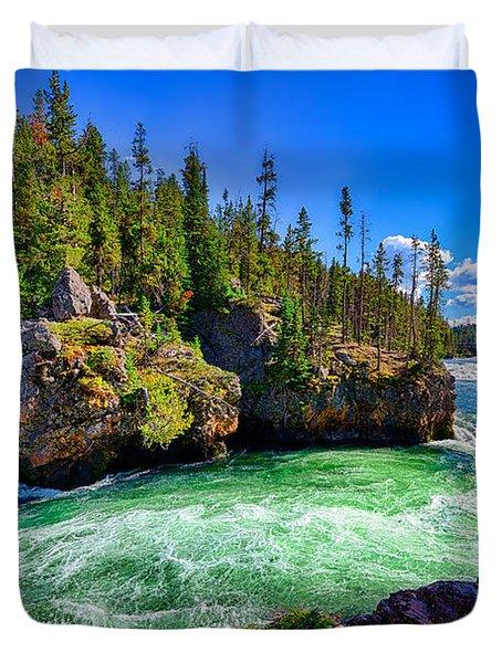 Brink Of Upper Falls Duvet Cover