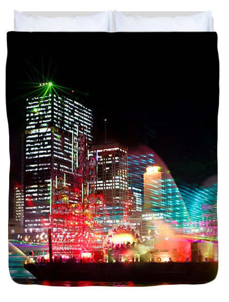 Brisbane City Of Lights Duvet Cover
