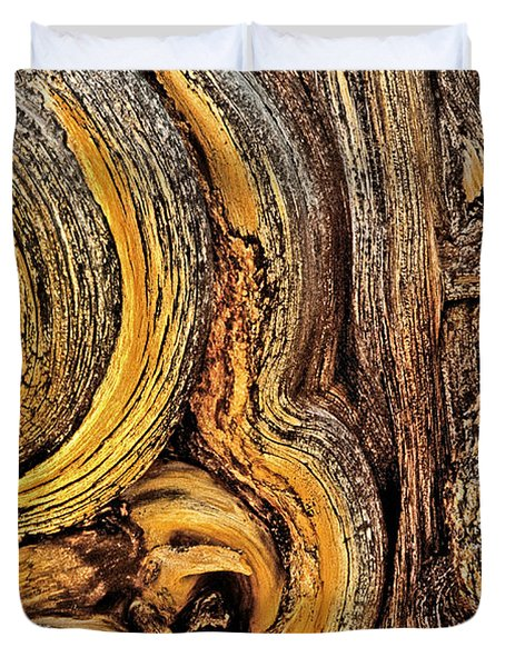 Duvet Cover featuring the photograph Bristlecone Pine Bark Detail White Mountains Ca by Dave Welling