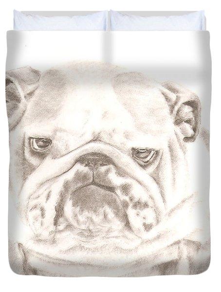 British Bulldog Winnie Duvet Cover