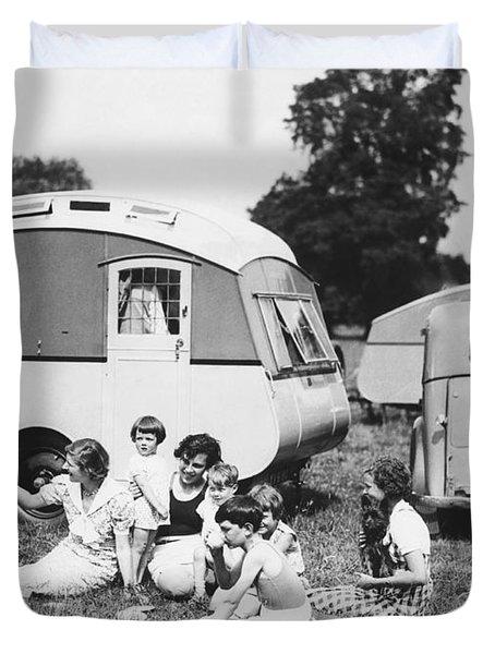 British Caravan Campers Duvet Cover