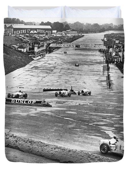 British Grand Prix Auto Race Duvet Cover
