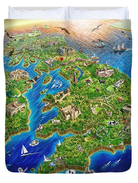 British Isles Duvet Cover
