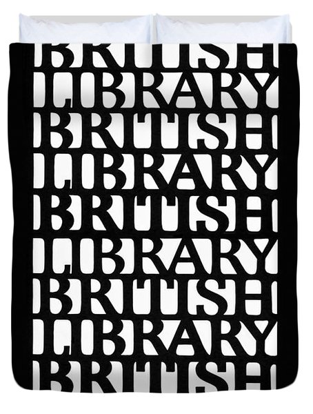 British Library Sculpture Duvet Cover
