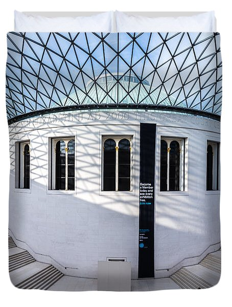 Duvet Cover featuring the photograph British Museum Color by Matt Malloy