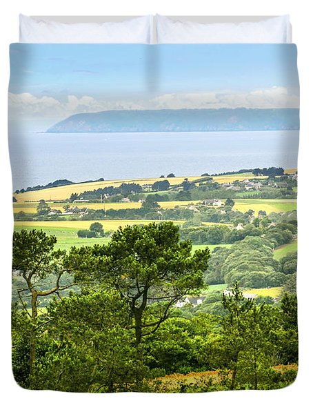 Brittany Landscape With Ocean View Duvet Cover by Elena Elisseeva
