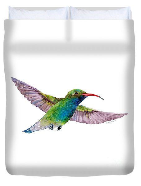 Broad Billed Hummingbird Duvet Cover by Amy Kirkpatrick