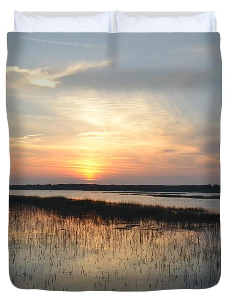Duvet Cover featuring the photograph Broad Creek Sunset IIi by Carol  Bradley