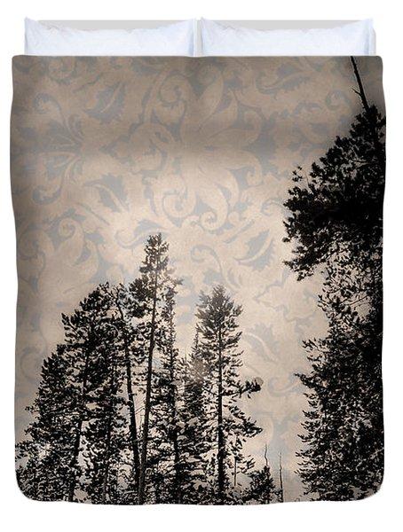 Brocade Sky Duvet Cover