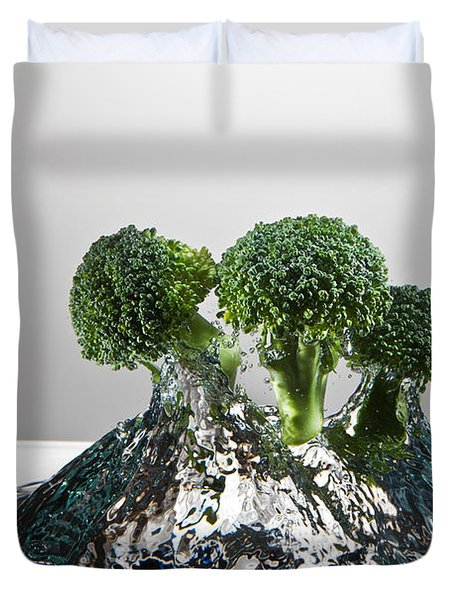 Broccoli Freshsplash Duvet Cover by Steve Gadomski