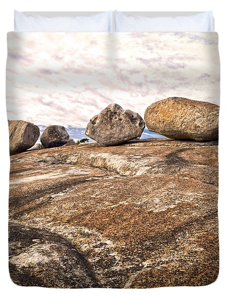 Broken Glacial Erratics Duvet Cover
