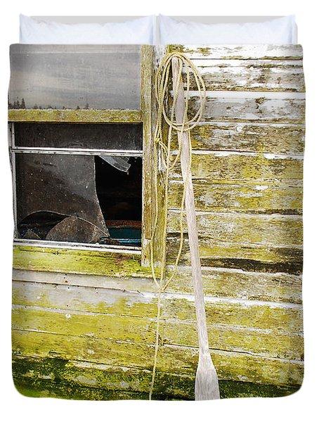 Broken Window Duvet Cover by Mary Carol Story