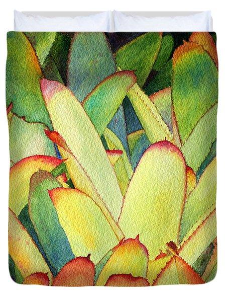 Bromeliads I Duvet Cover by Roger Rockefeller