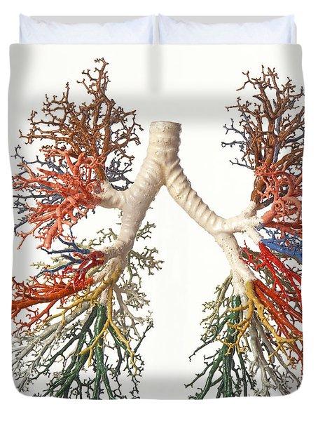 Bronchial Tree, Model Duvet Cover
