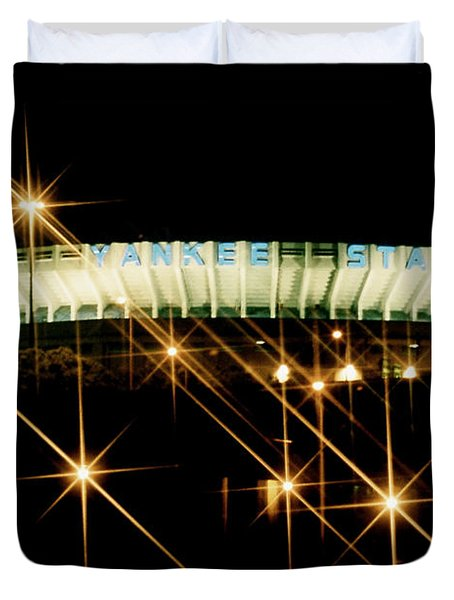 Bronx Night  Iv Yankee Stadium Duvet Cover