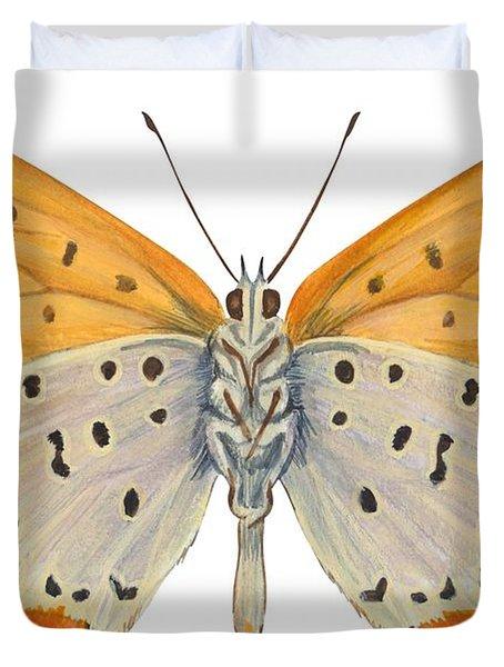 Bronze Copper Butterfly Duvet Cover