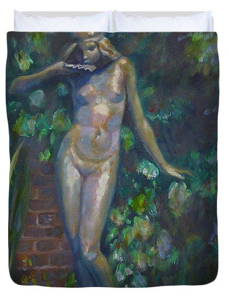 Bronze Figure Duvet Cover by Sarah Parks