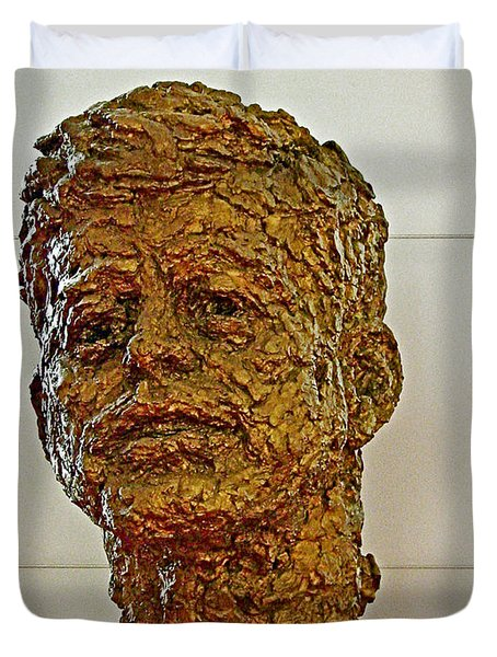 Bronze Sculpture Of President Kennedy In The Kennedy Center In Washington D C  Duvet Cover