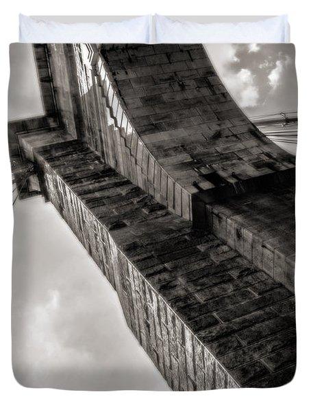 Brooklyn Bridge Duvet Cover by Angela DeFrias