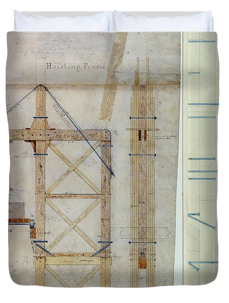 Brooklyn Bridge: Diagram Duvet Cover by Granger