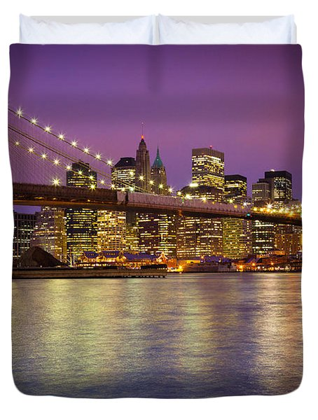 Brooklyn Bridge Duvet Cover by Inge Johnsson