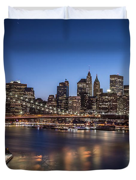 Brooklyn Bridge Duvet Cover by Mihai Andritoiu