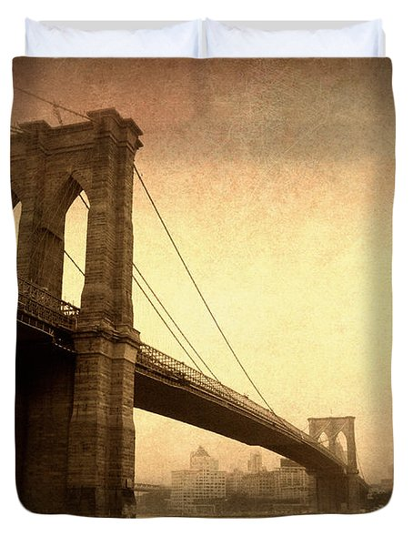 Brooklyn Bridge Nostalgia II Duvet Cover