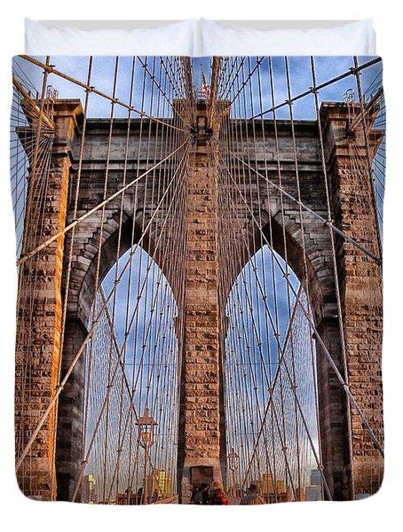 Duvet Cover featuring the photograph Brooklyn Bridge by Paul Fearn