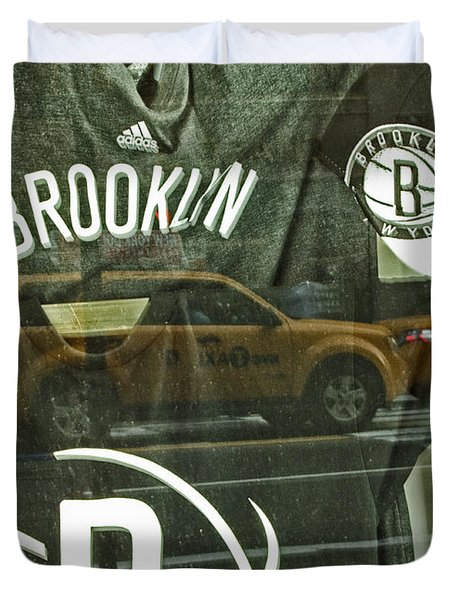 Brooklyn Nets Duvet Cover by Karol Livote