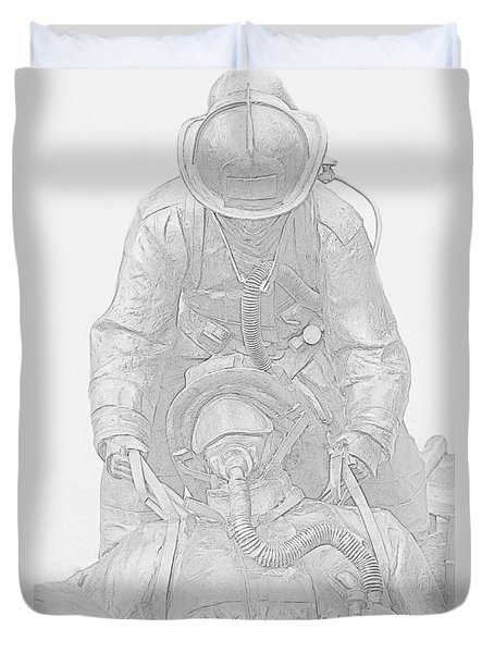 Brothers Duvet Cover by Susan  McMenamin