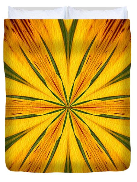 Brown And Yellow Abstract Shapes Duvet Cover