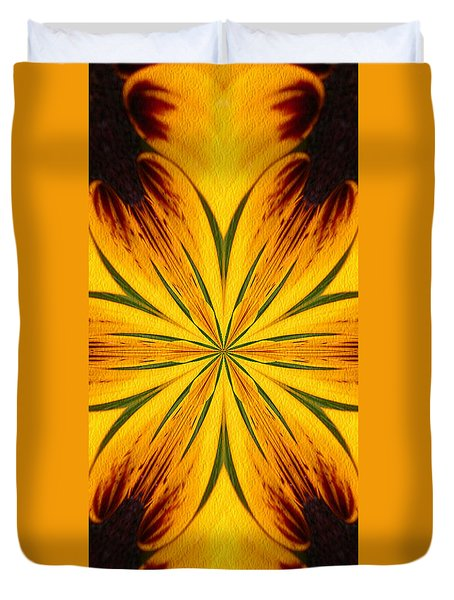 Brown And Yellow Abstract Shapes Duvet Cover by Smilin Eyes  Treasures