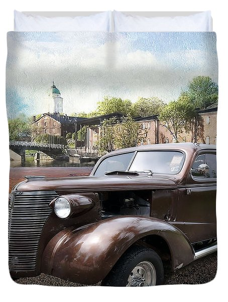 Brown Classic Collector Duvet Cover by Liane Wright