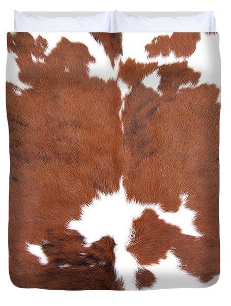 Brown Cowhide Duvet Cover