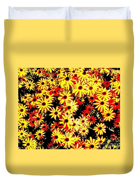 Brown Eyed Susans I Duvet Cover