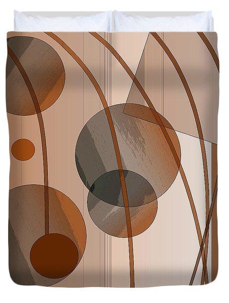 Brown Geometric Duvet Cover